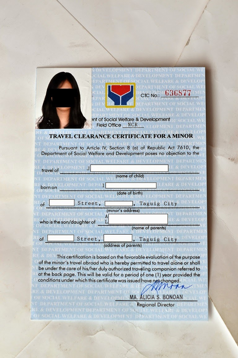 The Frequent Voyager Travel Clearance For Minors Dswd