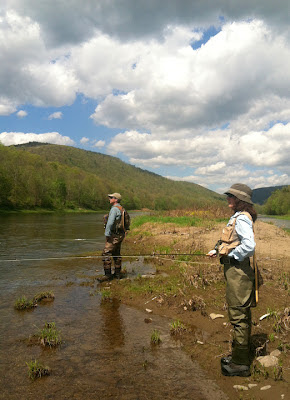 Richard Ross and Josee on the East branch, Delaware river, NY