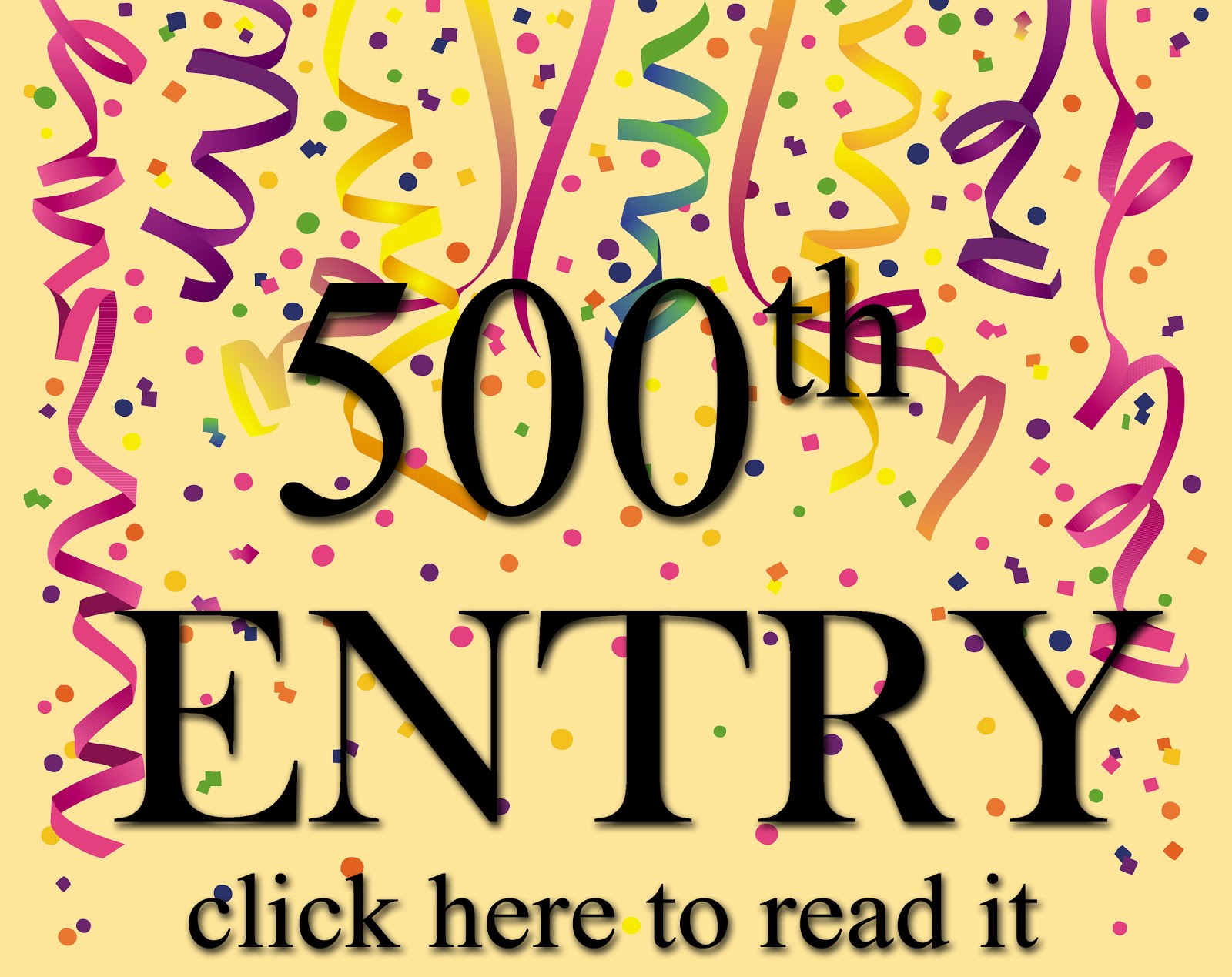 The 500th entry!