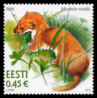 ESTONIAN FAUNA - WEASEL (MUSTELA NIVALIS) - www.post.ee