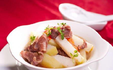 Cách làm món Gân bò hầm su hào ngon