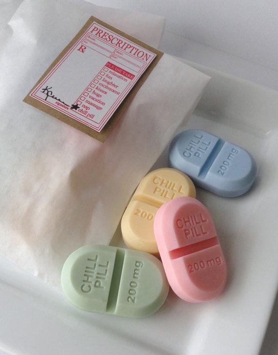 Chill Pill: sabonetes em formato de comprimidos