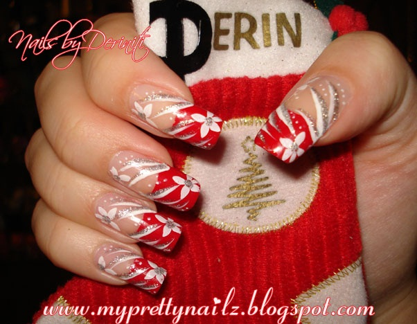 My Pretty Nailz Christmas Tips Nail Art Christmas Nail Art