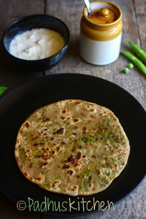 Peas Paratha-Matar Paratha