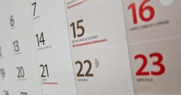 calendario 2015 argentina  nuevo  d u00edas feriados  festivos