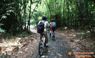 back keeper in Bamboo Forest - Bali Countryside Cycling Tour Tracks