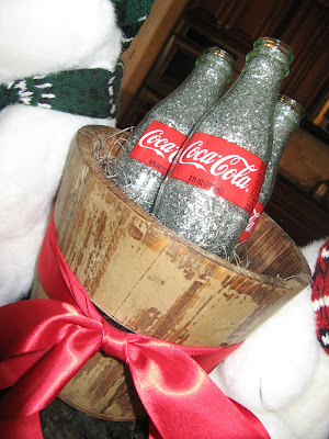 Glitter Coke Bottle Christmas Decoration
