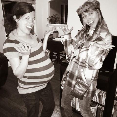 friends, reunited, pregnant, Denver, Colorado, Plaid, Pendleton