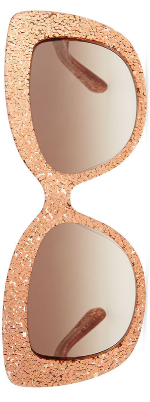 kate spade new york ursula glitter cat-eye sunglasses