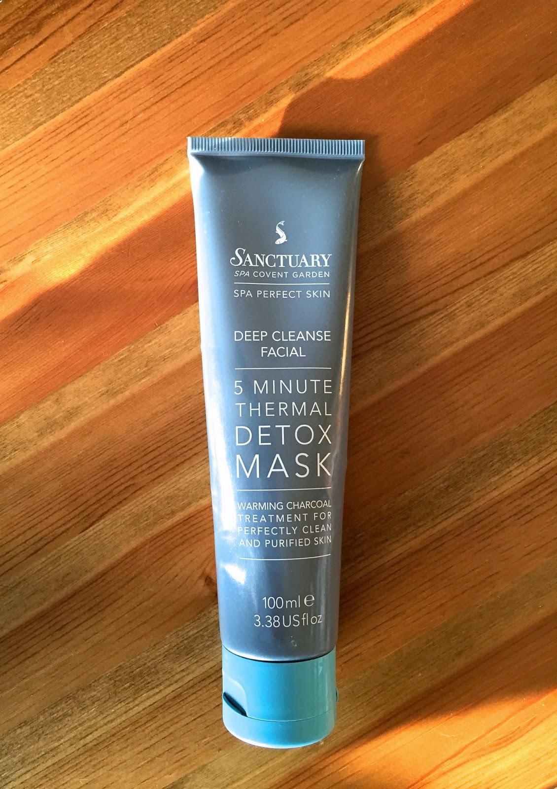 sanctuary, skincare, skincare routine, february favourites, face mask, thermal face mask