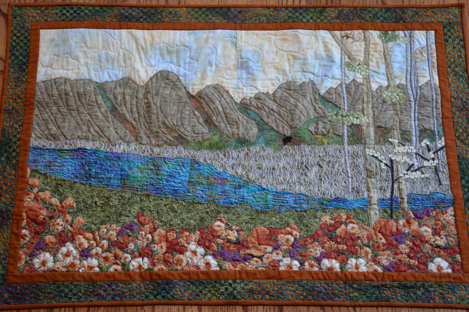 Pieced Brain: Landscape quilts