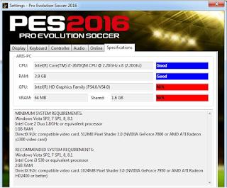 Cara mengatasi VGA tidak terdeteksi oleh PES 2016