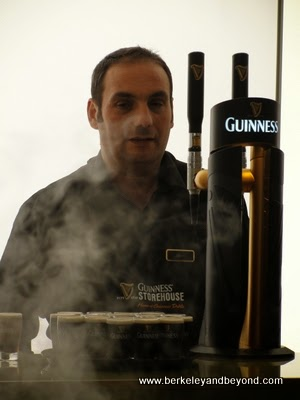 pouring tastes at the Guinness Storehouse, Dublin, Ireland