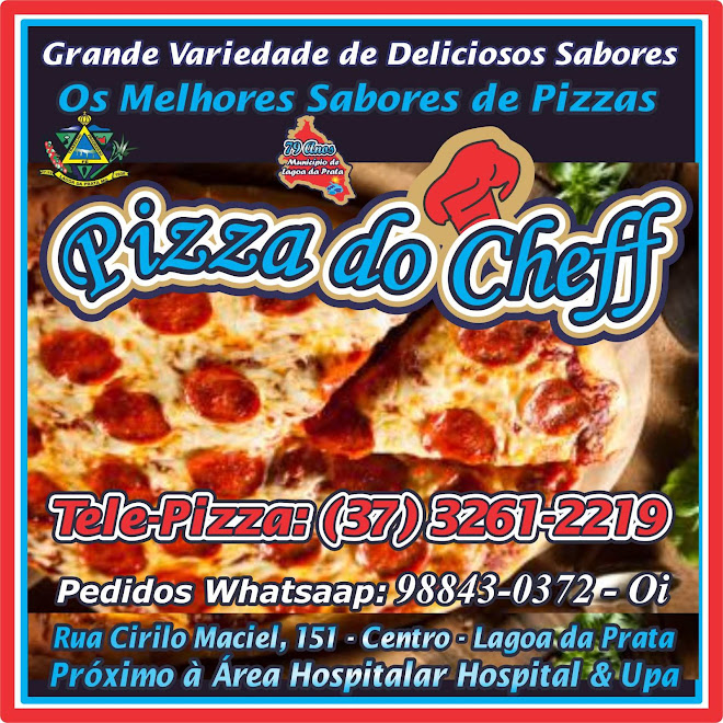 Pizzarias em Lagoa da Prata Pizza do Cheff