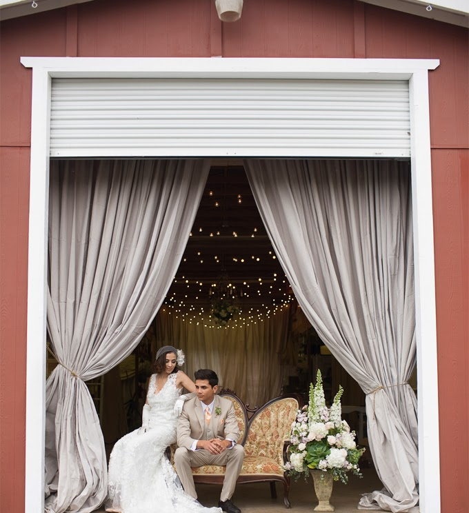 Vintage Red Barn Styled Wedding Shoot