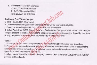 altus flats in Mullanpur Payment Plan3