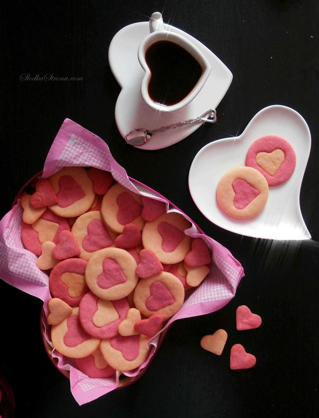Ciasteczka z Serduszkami na Walentynki - Przepis - Słodka Strona