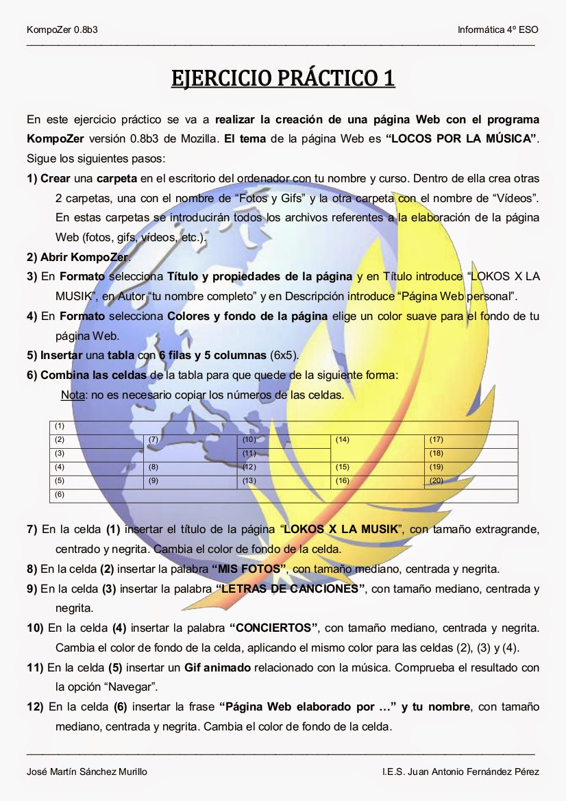 informaticahuerta: Página Web