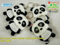 Gantungan Kunci Panda Bahan Flanel