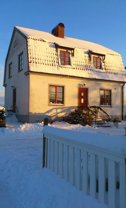 Vårt hus i vintertid