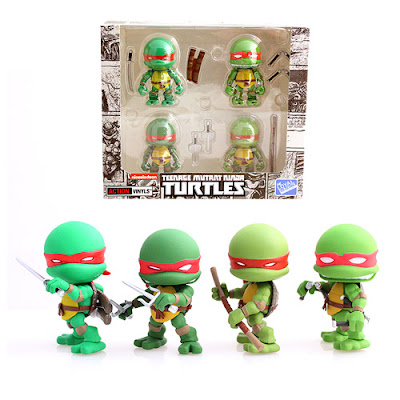 San Diego Comic-Con 2015 Exclusive Teenage Mutant Ninja Turtles Original Comic Book Edition Action Vinyls Mini Figure 4 Pack by The Loyal Subjects