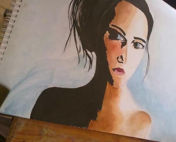 retrato de muchacha