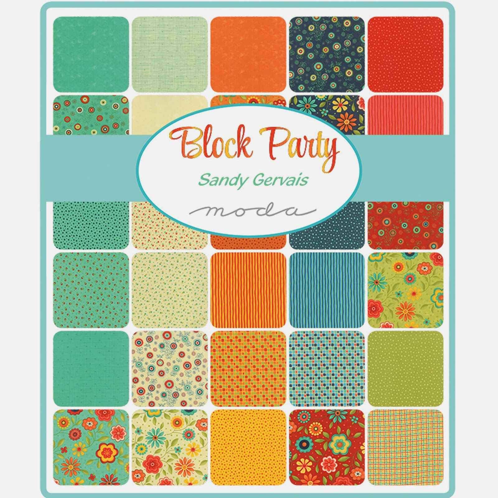 Moda BLOCK PARTY Fabric by Sandy Gervais for Moda Fabrics