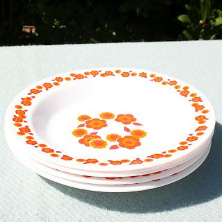 Assiettes creuses Arcopal Lotus rouge orangé !