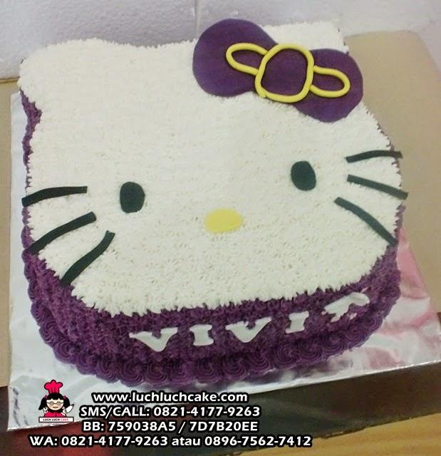 Kue Tart 3D Hello Kitty Warna Ungu Daerah Surabaya - Sidoarjo