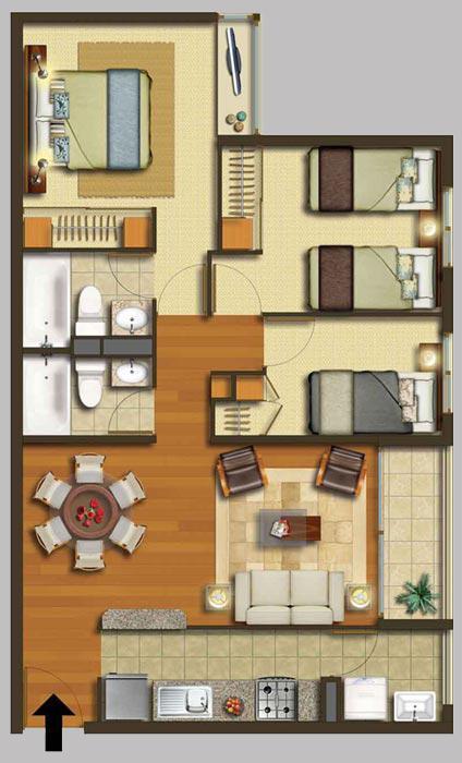 Planos de casas modelos y dise os de casas julio 2012 for Disenos de casas chicas
