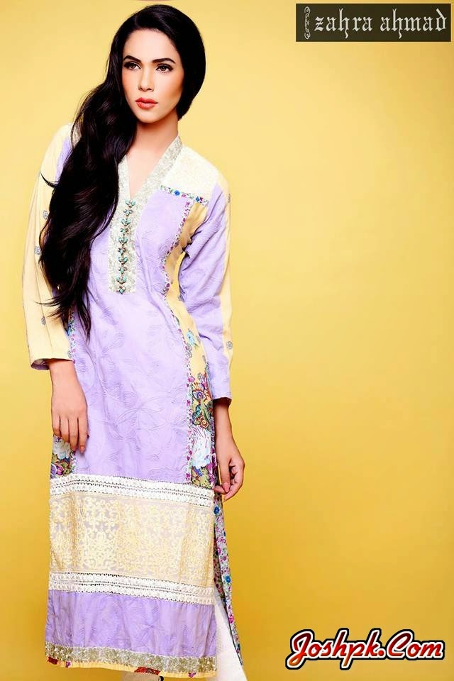 Jannat Nazir Colorful Eid Wear Collections 2014 For Women