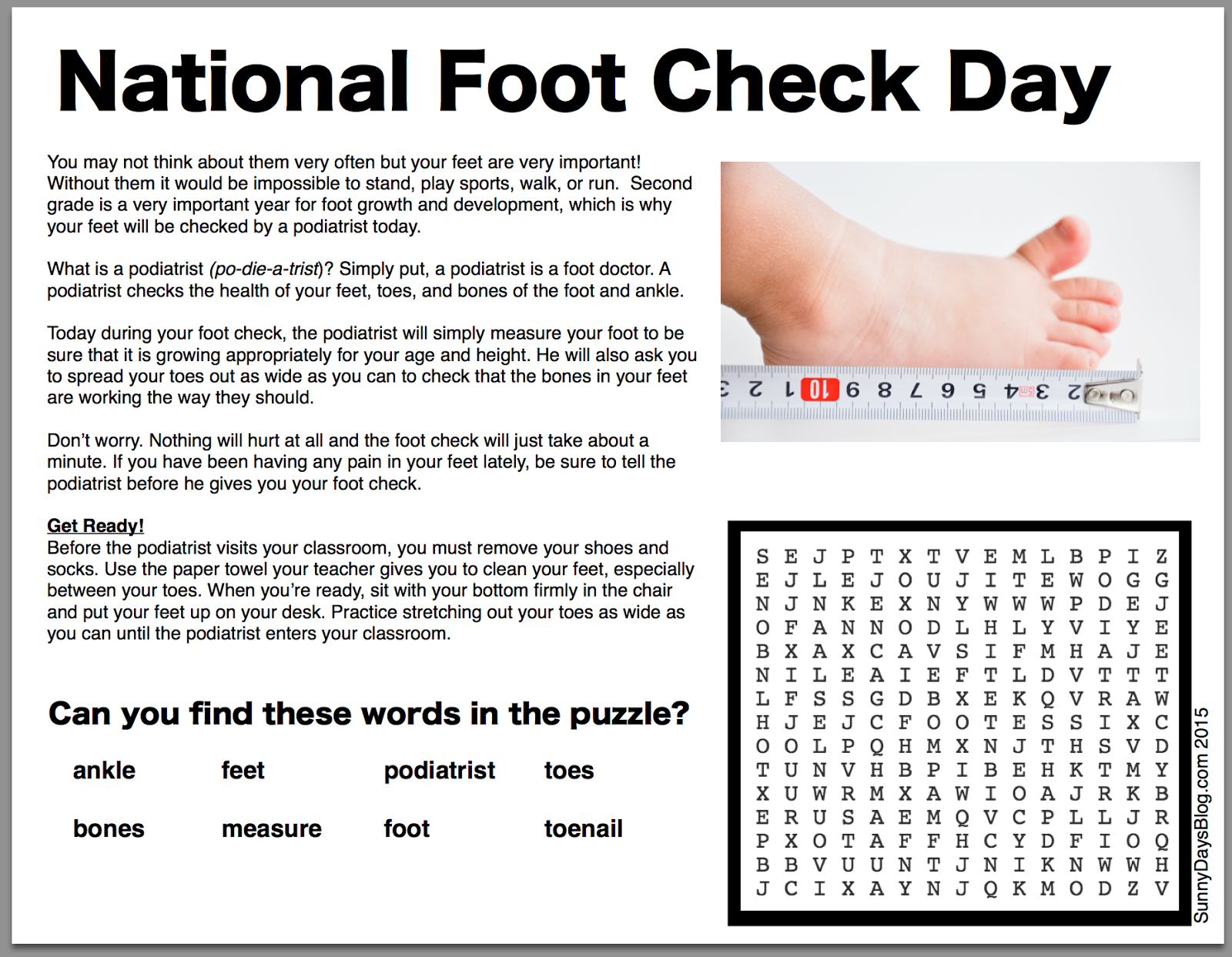 national foot check day epic april fools idea sunny days in
