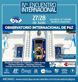 IV Encuentro Internacional del Observatorio de Paz