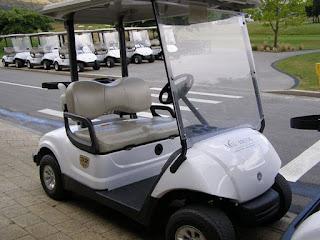 ミルブルックゴルフコースの電動カート
