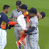 Miguel Cabrera greets Jose Altuve by lifting him up - literally (Video)