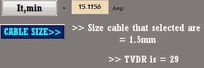 Fypku development of interactive electrical network design cable based on the itmin the value is 151156amp so the cable size are selected are 15mm its all based on the coding above when the itmin is135 16 keyboard keysfo Gallery