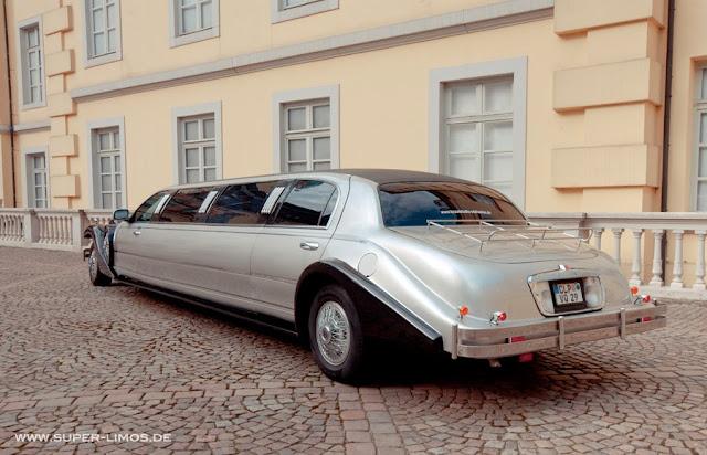 Excalibur Limousine black/ silver. Hochzeitsauto.