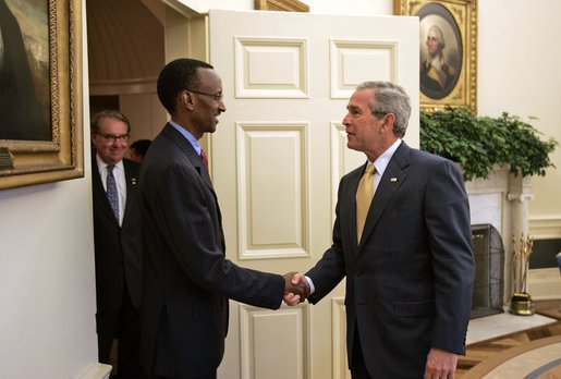 Kagame and Mr. George Bush