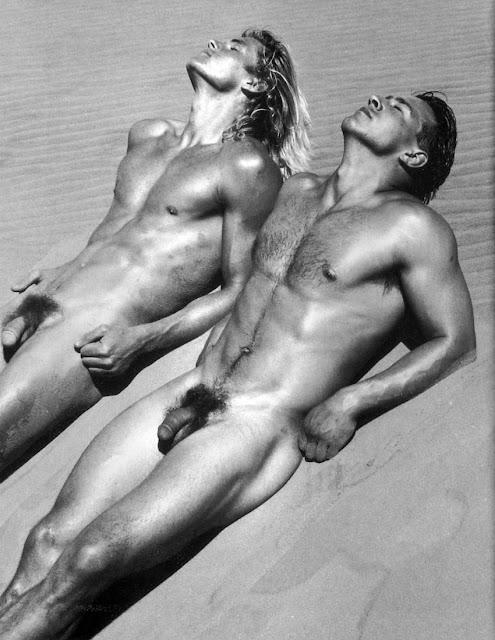 Two Men Sunbathing Naked