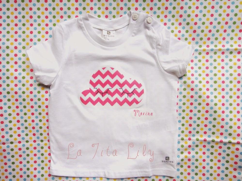 Camiseta bebé nube