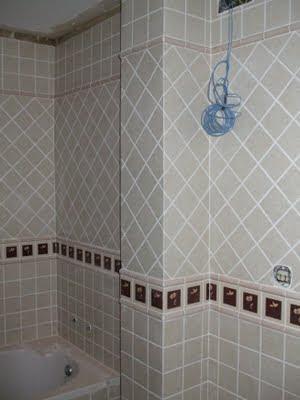 Azulejos alicatados y alicatadores cantonera o inglete - Alicatado banos pequenos ...