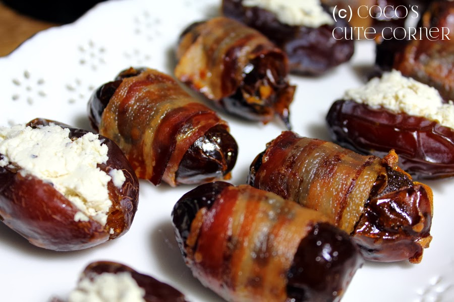Dates with Bacon / Dates wit Peppercheese