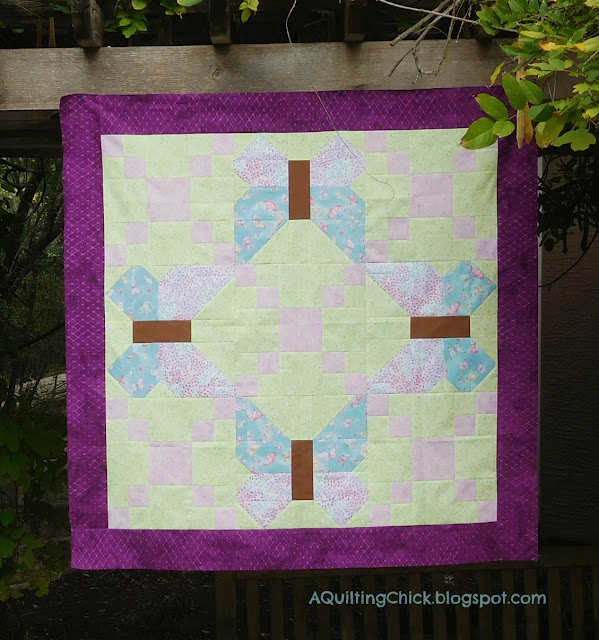 Butterfly Trellis Baby Quilt