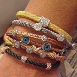 braceletes italianos Rosa Leal em rosé ouro prata e ródio comprar preços