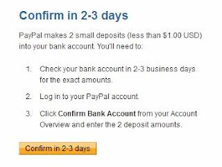 Confirm Bank account