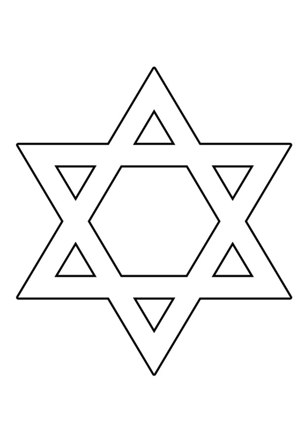 Estrella de David para colorear ~ Dibujos Cristianos Para ...