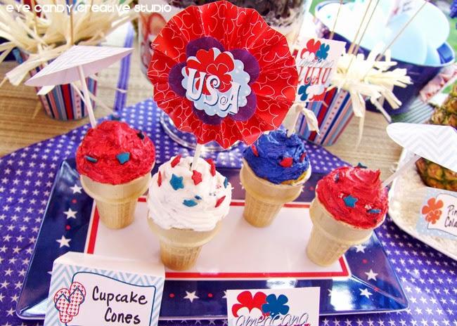 USA, 4th of July dessert idea, luau ideas, stars & stripes, americana