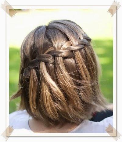 Model Kepang Rambut Masa Kini - Gaya rambut pendek kepang