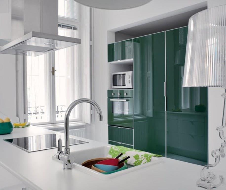 Marta decoycina decorar la cocina en verde for Muebles de cocina modernos color blanco