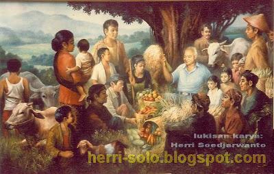 Pak Harto si Anak Desa, lukisan Herri Soedjarwanto